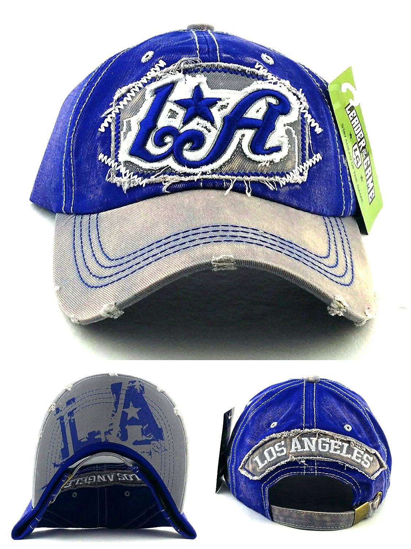 Amazon.com   Los Angeles LA New Leader Women Ladies Vintage Dodgers Colors  Blue Gray Era Strapback Hat Cap   Sports   Outdoors 56f88630043