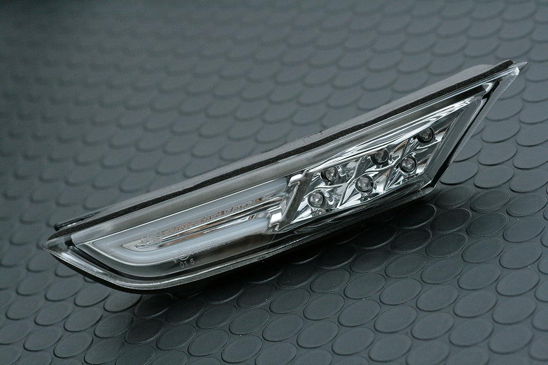 Smoked Lens Side Fender Markers Lights For Nissan GT-R R35 LED Light Trim