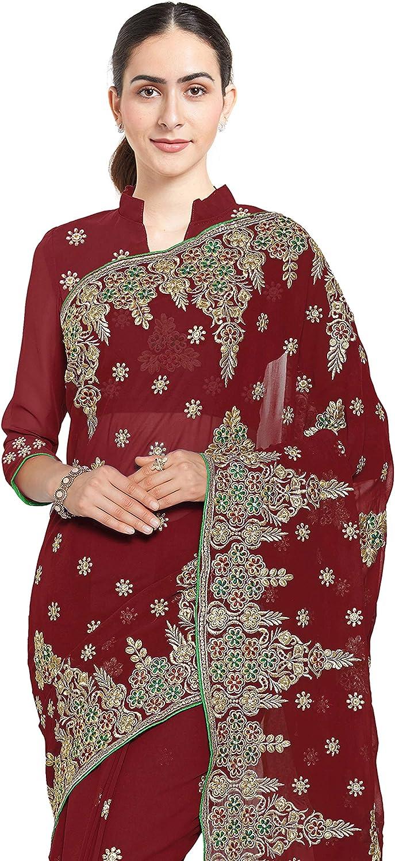 Mirchi Fashion Bollywood Kleider Damen Sari mit Ungesteckt Oberteil//Top Gedruckte Saree