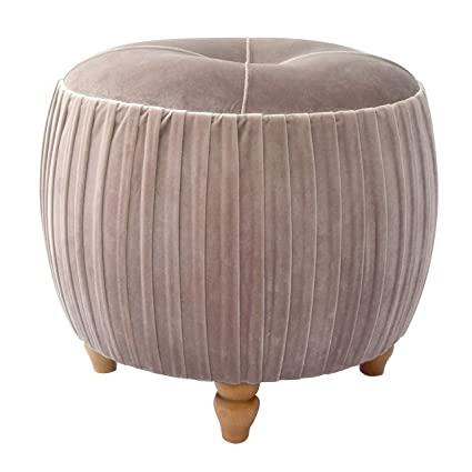 Outstanding New Pacific Direct 1600008 187 Helena Velvet Small Round Ottoman Ottomans Cubes Chamoise Gmtry Best Dining Table And Chair Ideas Images Gmtryco