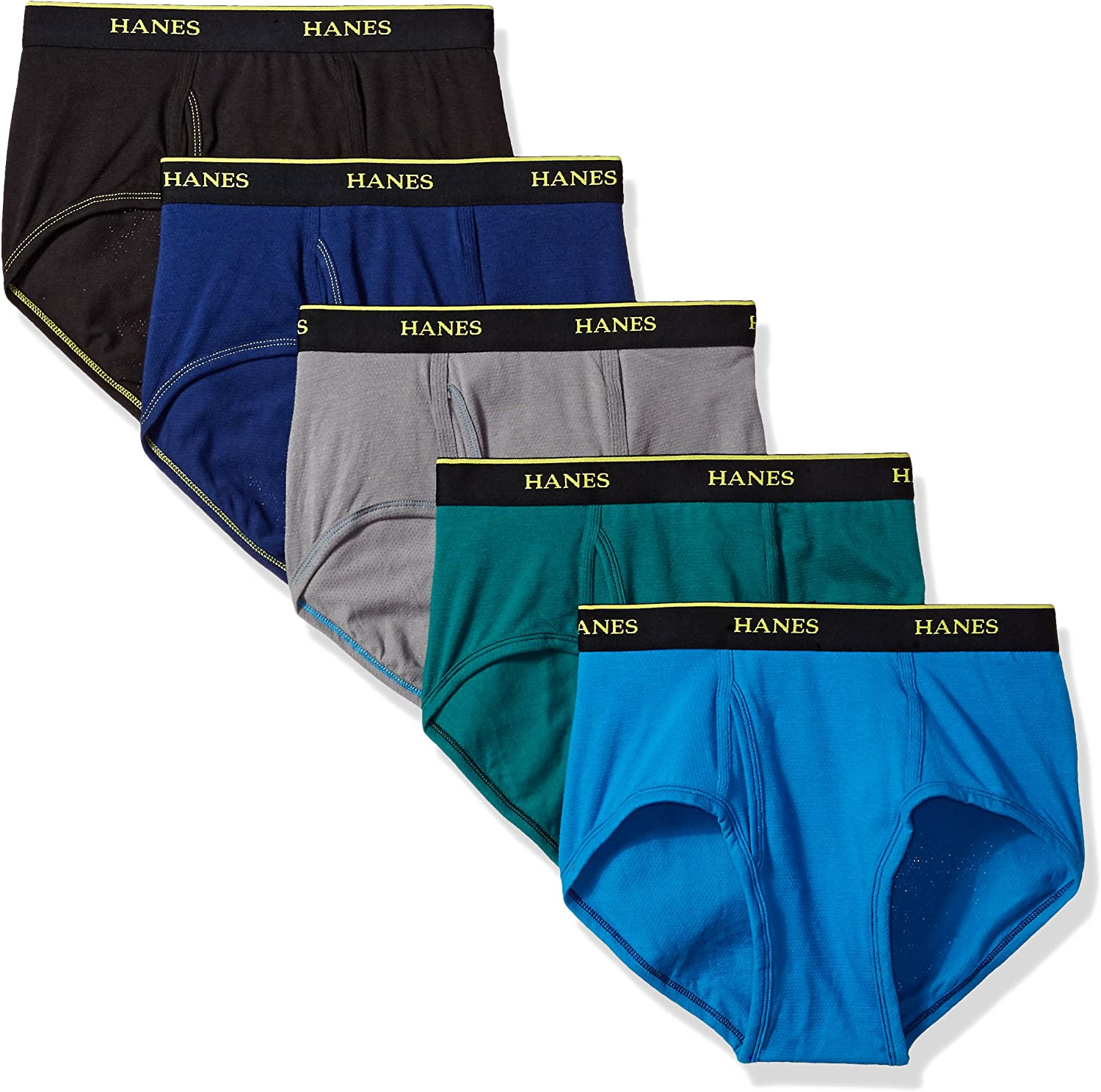 Hanes Mens Standard 4-Pack Cool Comfort Lightweight Breathable Mesh Brief