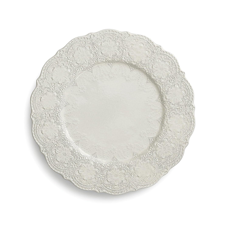 Arte Italica Merletto Antique Charger Plate, Cream MER1133AL
