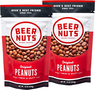 product image for BEER NUTS Original Peanuts - 16oz Resealable Bag, Sweet and Salty, Gluten-Free, Kosher, Low Sodium Peanut Snacks (2-Pack)