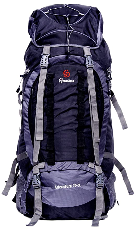 4425e8a0e08b Image Unavailable. Image not available for. Colour  Grandiose 75L Front  Open Model Black Hiking Trekking Camping Rucksack Bags ...