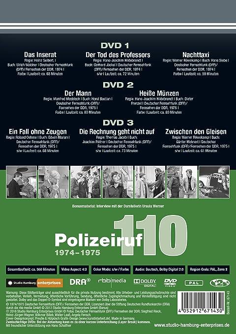 Polizeiruf 110 Box 4 1974 1975 Ddr Tv Archiv 3 Dvds In