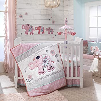 Pink, Gold and White Baby Crib Mobile by Baby Sanda