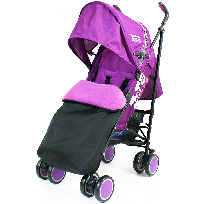 Zeta Citi Stroller Buggy Pushchair - Plum (Complete With Footmuff + Raincover) Baby Travel ZeCi-PluCOM