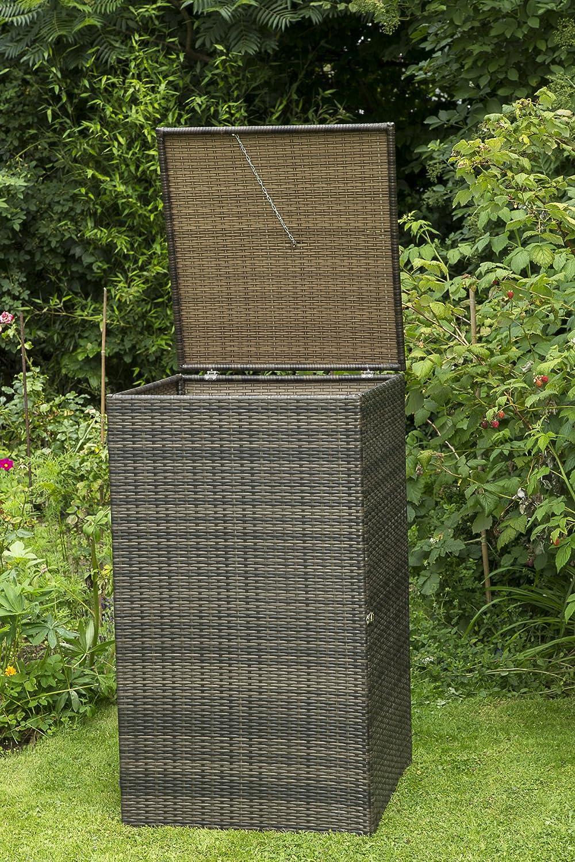Mülltonnenbox für Tonnen bis 120 Liter, 64x66x109cm, Stahl + ...