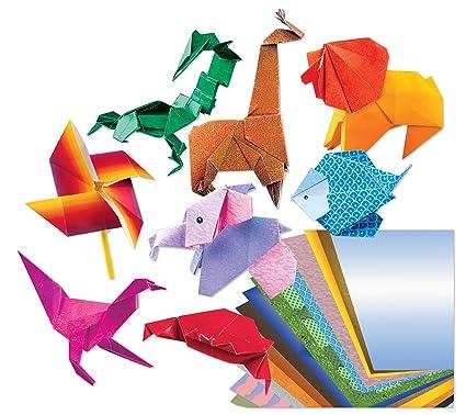 Amazon Roseart Origami Fun Folding Paper Kit Includes 32 Piece