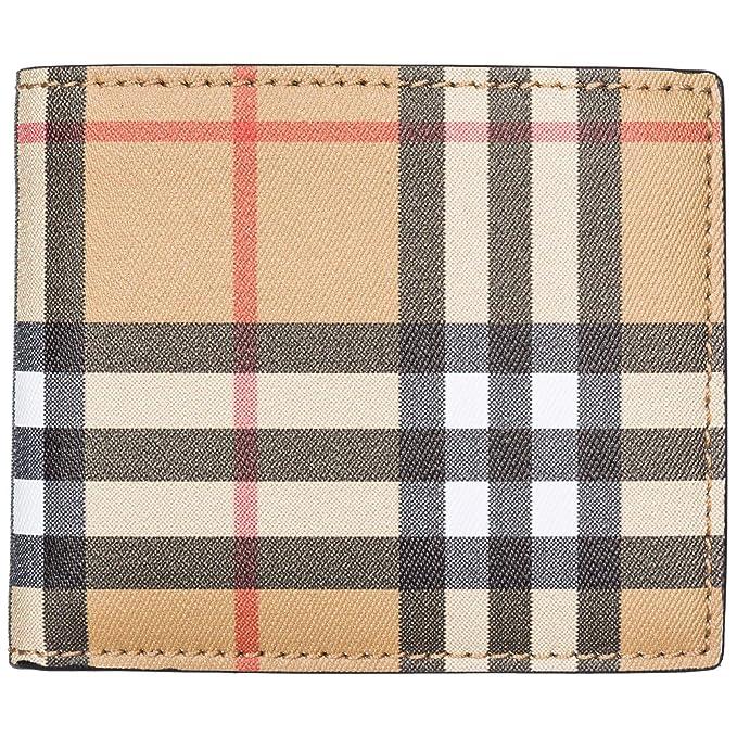 Burberry cartera billetera bifold de hombre en piel nuevo Ibillf marrón: Amazon.es: Ropa y accesorios
