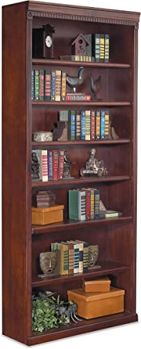 Baxton Studio Barnes 6-Shelf Modern Bookcase, White