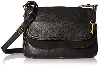 7a85ef2bb Fossil Peyton Large Flap, Black: Amazon.co.uk: Shoes & Bags