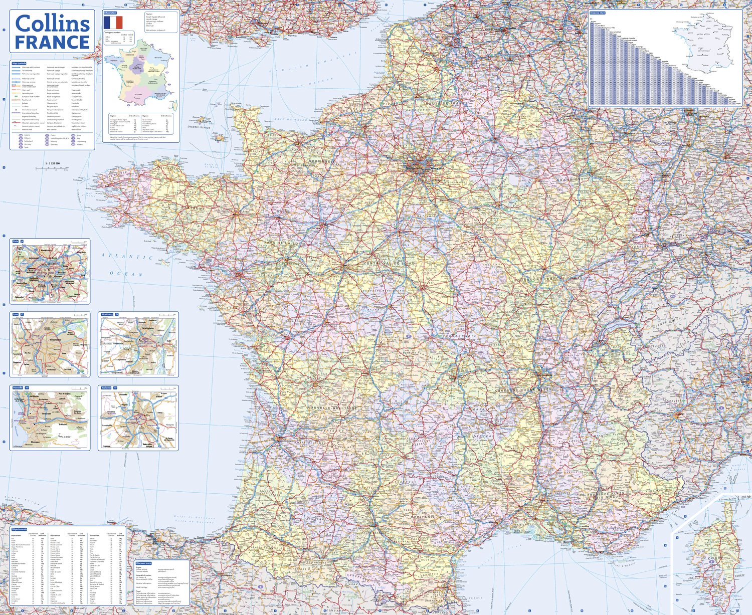 2017 Collins France Road Map: Collins UK: 9780008203603 ... on travel route of france, airports in the south of france, street maps of paris france, detailed map of europe france, detailed map venice italy, size of france, detailed map of paris france, detailed world map, towns in provence france, detailed map of southern alabama, detailed map of northern colorado, detailed map united kingdom, detailed map of normandy, large airports in france, detailed map of provence, road map spain to france, road map of provence france, detailed map of southern france, detailed map of uk, republic of france,