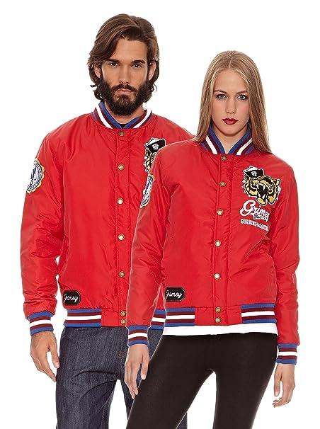 Grimey Wear Chaqueta Nylon Fuego y Saqueo Rojo S: Amazon.es ...