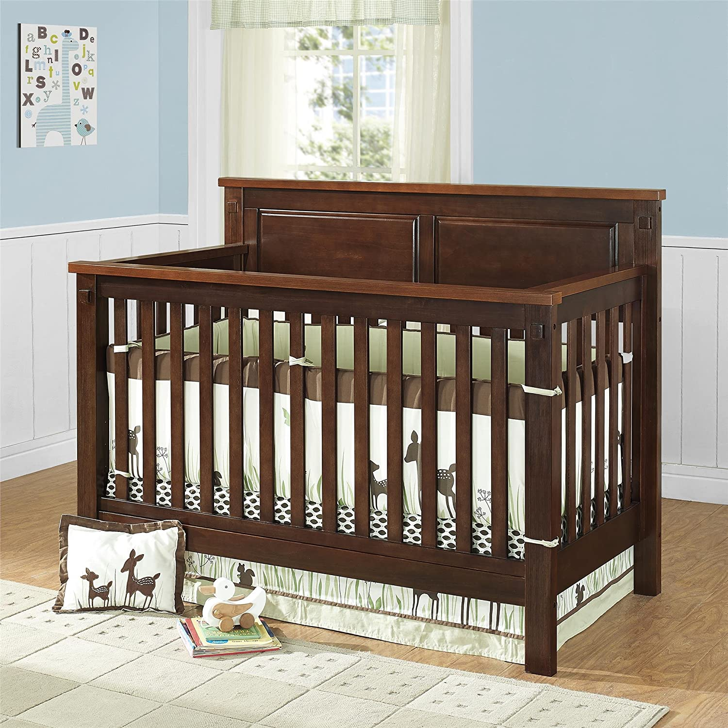 trendy baby furniture. amazoncom baby relax forrest 4in1 crib espresso and walnut trendy furniture o