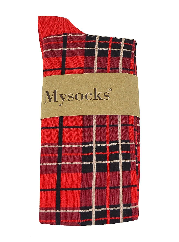 MySocks Mi-bas /à carreaux unisexes