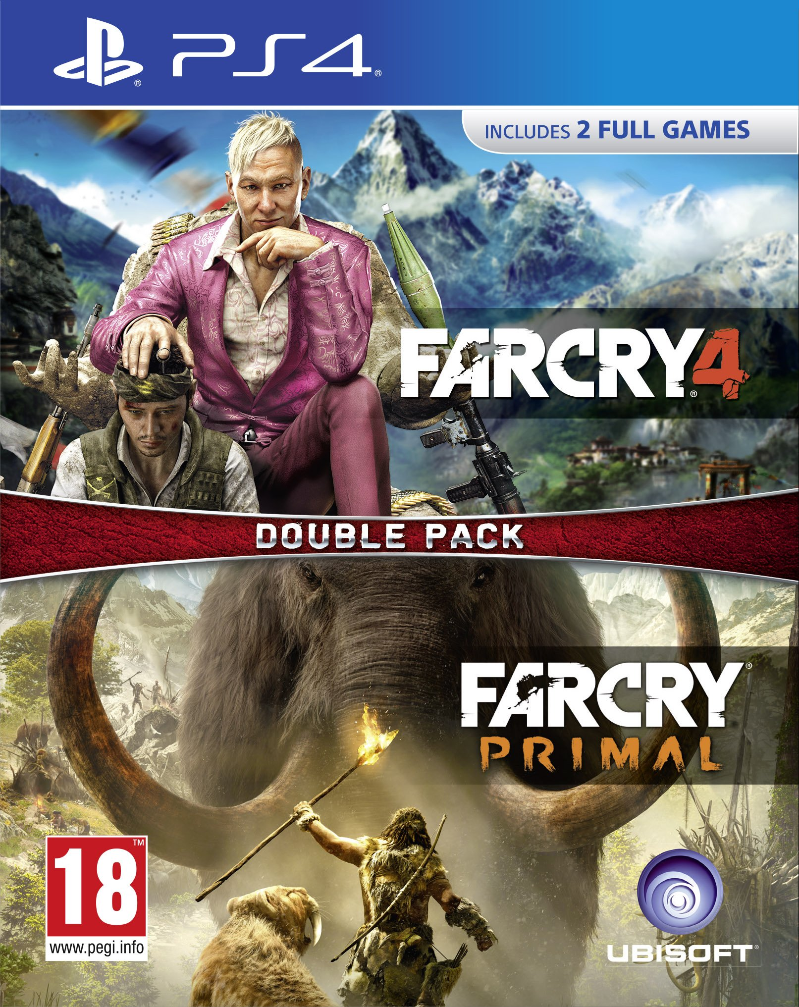 FAR CRY PRIMAL AND FAR CRY 4 DOUBLE PACK (PS4)