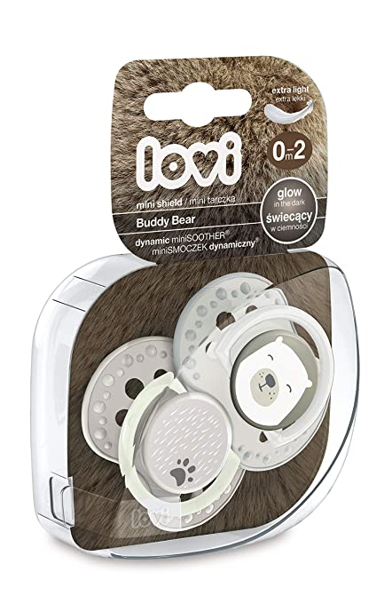 LOVI - Mini chupetes dinámicos Buddy Bear 0-2m (2 ud.): Amazon.es: Bebé