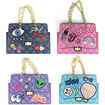 568498e3956e1 Handmade Gift Bags, Set of 4 Designs Luxury Brand Bag Printed, Mini Handmade  Purse