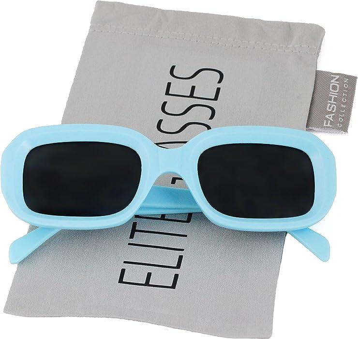 92d16337760 Amazon.com  Clout Goggles Square Fashion Nirvana Sunglasses Colorful Square Kurt  Cobain  Clothing