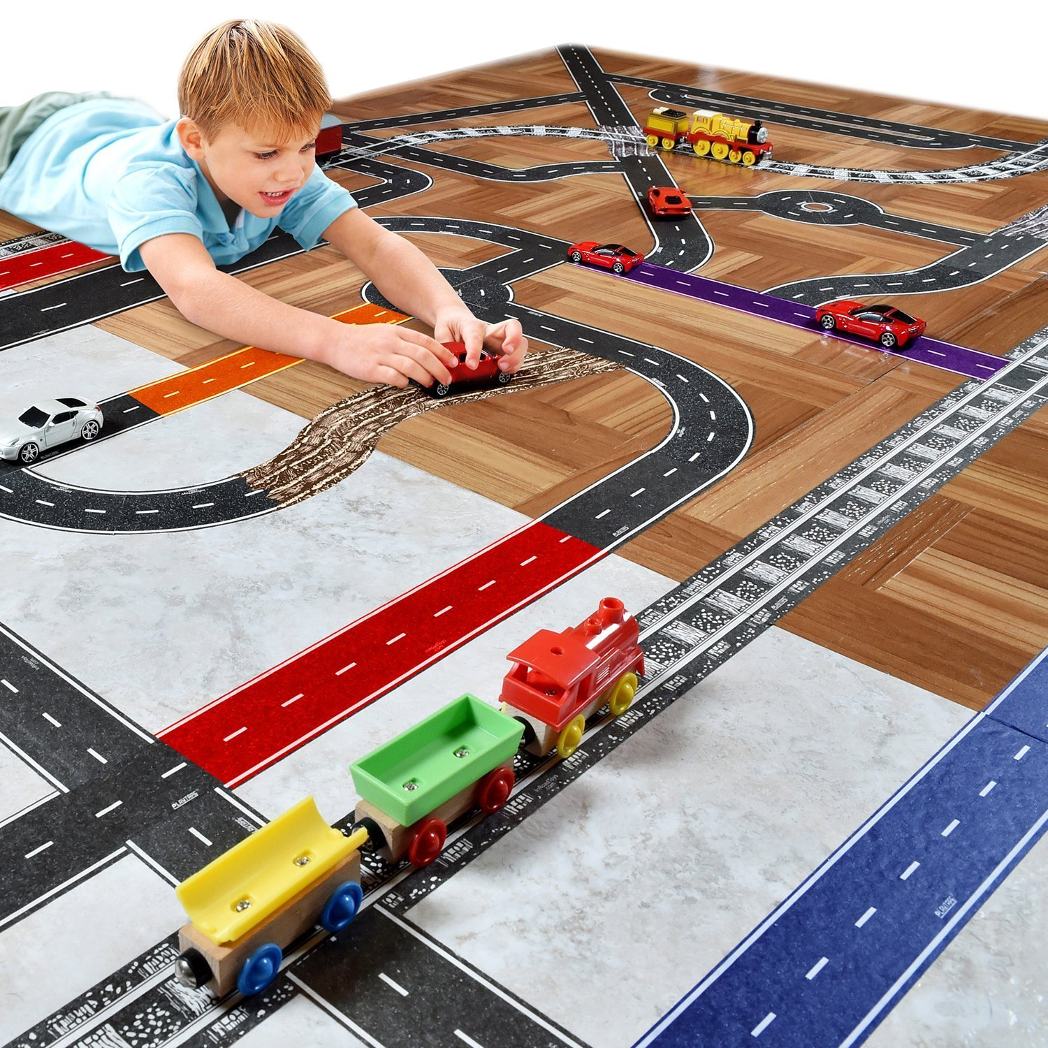 Bundled by Maven Gifts InRoad Toys InRoad PlayTape Classic Road Red 30x2