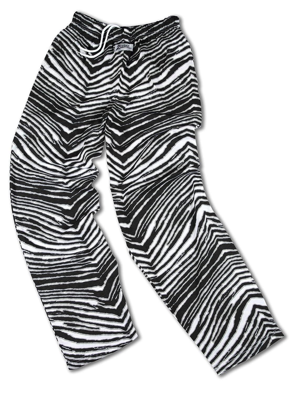 Zubaz New Orleans Saints Team Color Zebra Pants, Black Metallic Gold ZE290