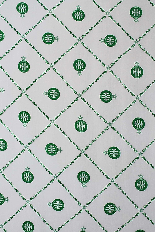 AS Saint Etienne Drap Housse ASSE Collection Officielle Taille 90x190 cm.