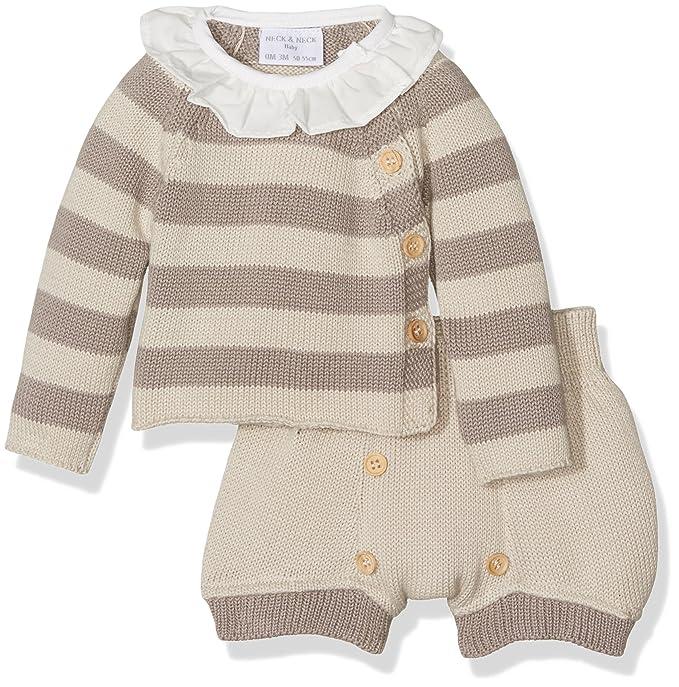 Neck & Neck 17V05102.60, Ropa de Bautizo para Bebés, Beige 3M