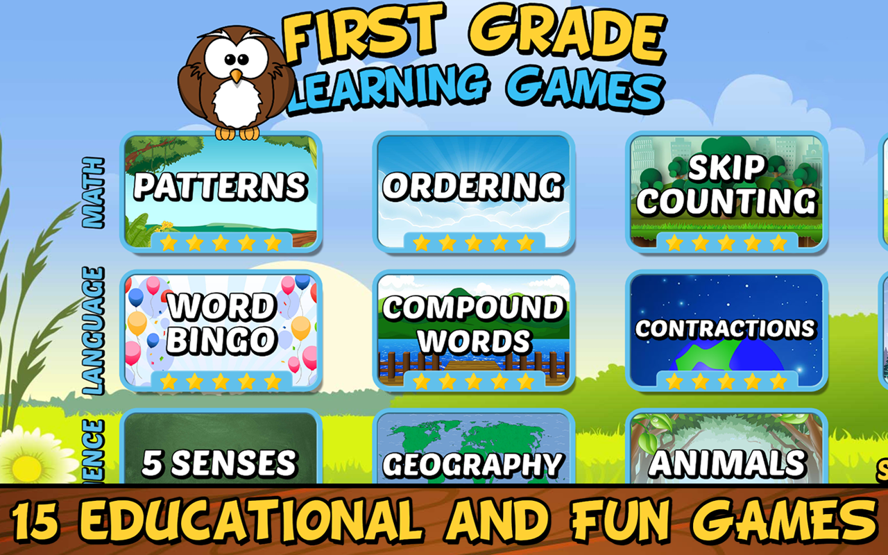 Amazon.com: First Grade Learning Games (Full Version): Appstore for ...
