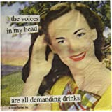 Paperproducts Design 1251129 Anne Taintor Beverage/Cocktail Napkin, Voices in My Head