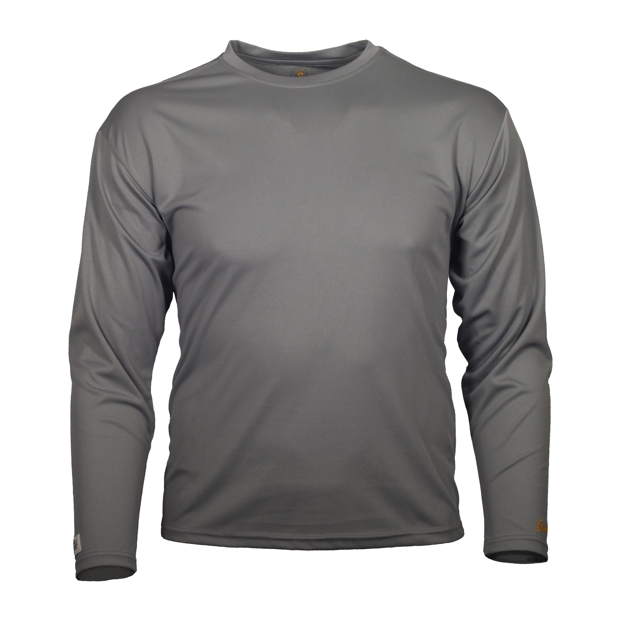 Gamehide ElimiTick Long Sleeve Tech Shirt (Slate Grey, 3X) by Gamehide