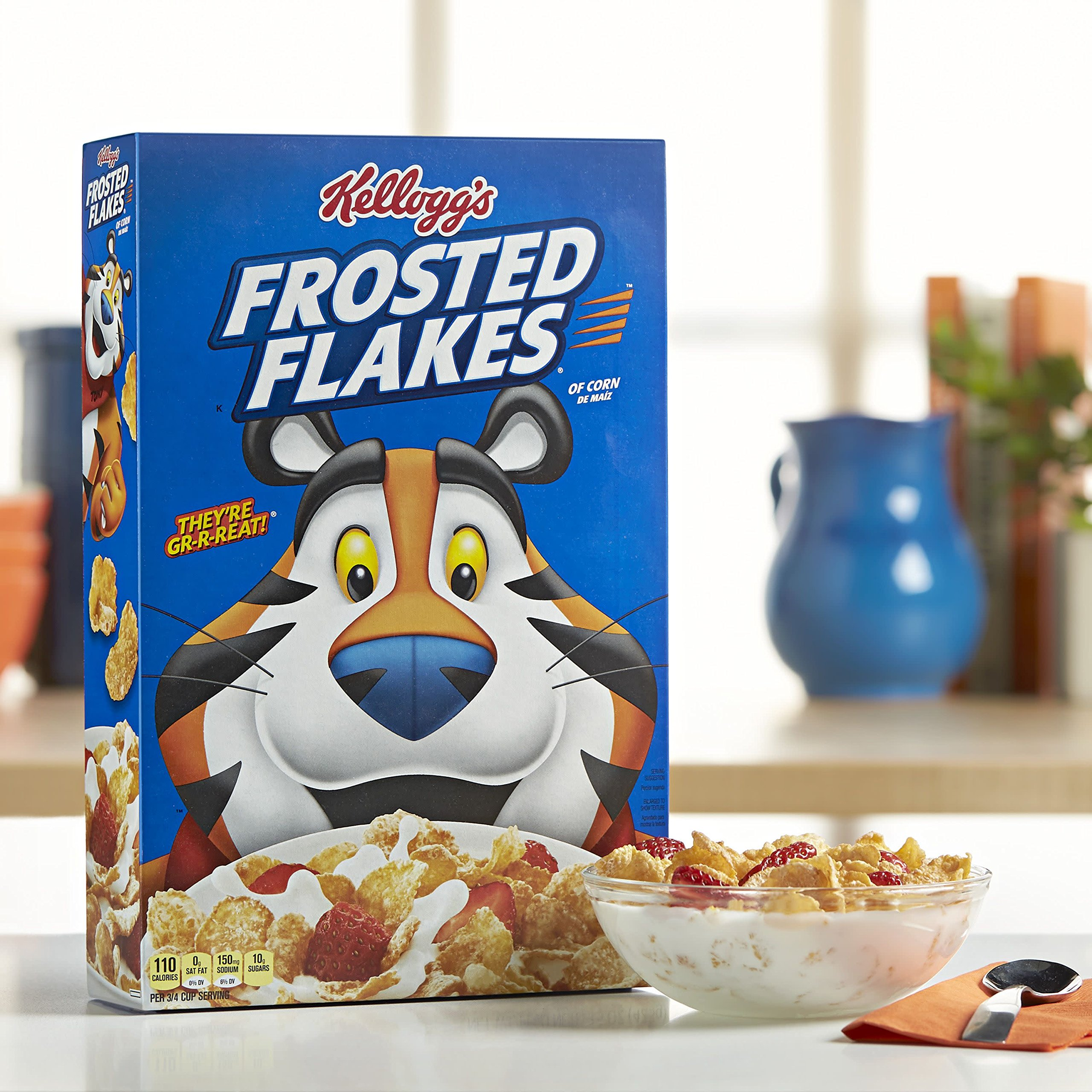 Kellogg's Frosted Flakes, Breakfast Cereal, Fat-Free, Family Size, 24 oz by Kellogg's (Image #4)