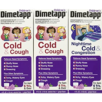 Amazon Childrens Dimetapp Cold Allergy 8 Fl Oz Grape