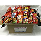 NEW Korean Hit Ramen Variety Pack ,Paldo, Nongshim shin ramyun,Cup Noodle Soup, Tempura Udon Instant Noodes Party Time Package. (Nongshim Party Time 10 packs Mix)