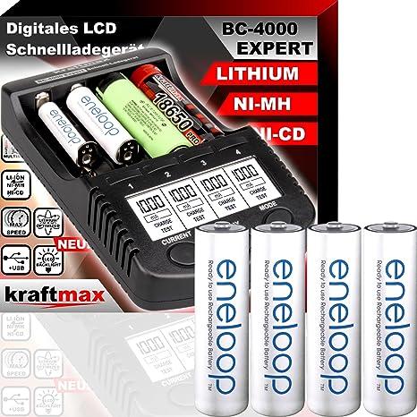 BC4000 Expert - Cargador de pilas universal: Amazon.es ...