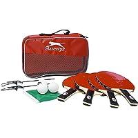 Slazenger 12Piezas Tenis de Mesa Raqueta de Tenis de Mesa Raqueta de Tenis de Mesa Red Juego de Pelotas de fútbol Red de Tenis de Mesa
