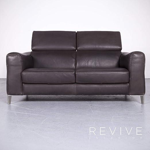 Natuzzi Designer Leder Sofa Braun Echtleder Zweisitzer Couch ...