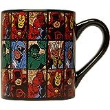 Silver Buffalo mv9132Marvel Comics rejilla taza de cerámica, 14-ounces