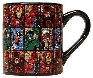 Silver Buffalo MV9132 Marvel Comics Grid Ceramic Mug, 14-Ounces