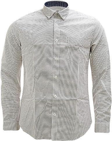 Ben Sherman - Camisa casual - Étnico - con botones - Manga larga - para hombre Marfil Off White M: Amazon.es: Ropa y accesorios