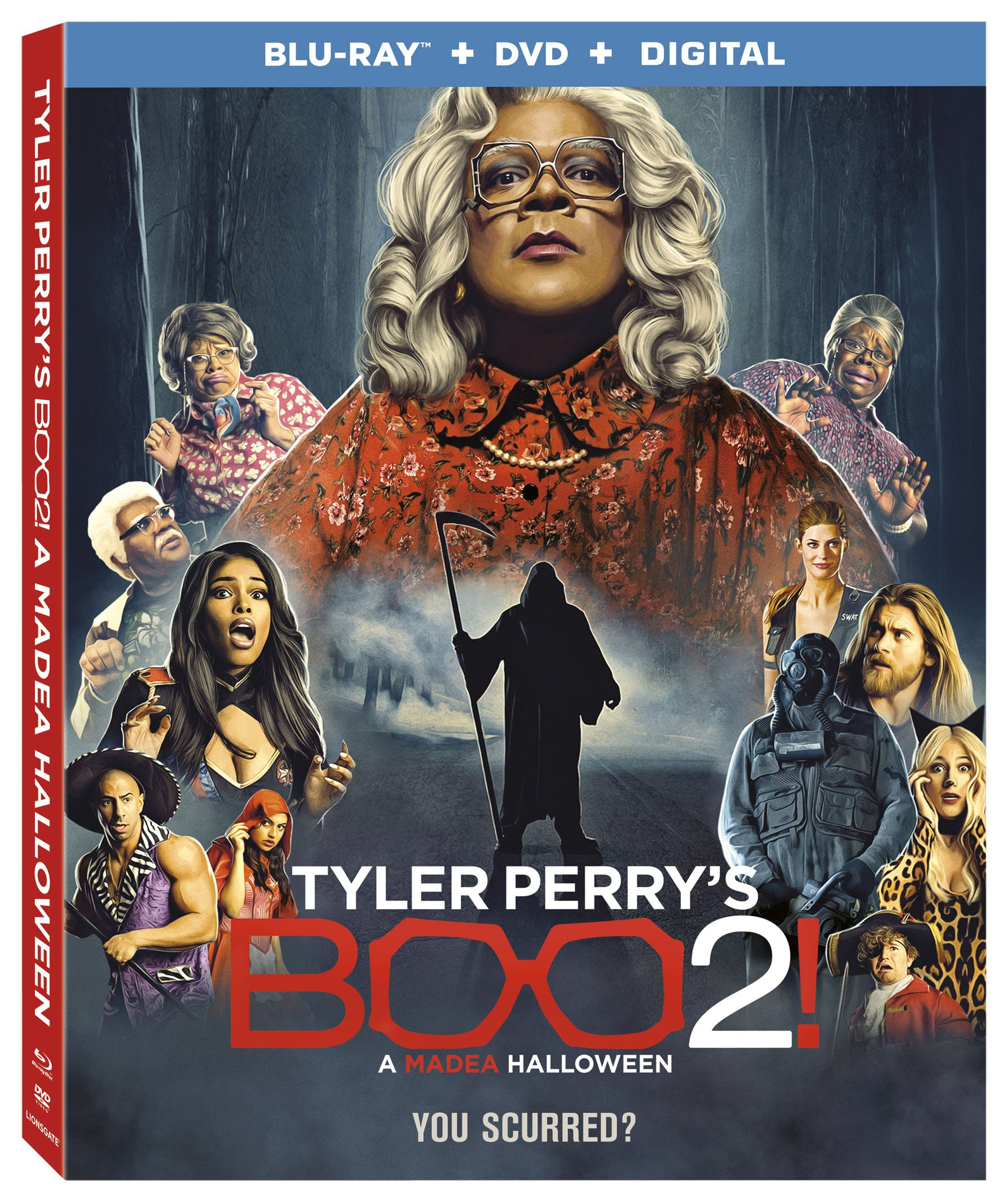 Blu-ray : Tyler Perry's Boo 2! A Madea Halloween (With DVD, Ultraviolet Digital Copy, 2 Pack, AC-3, Dolby)