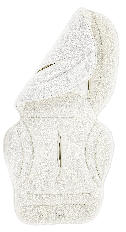 Brevi 8011250018006 Algodón funda para cochecito/carrito - fundas para cochecito/carrito (Algodón, Color blanco, Lavado de manos)