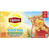 Lipton Family-Sized Black Iced Tea Bags, Decaffeinated, Unsweetened 48 ct
