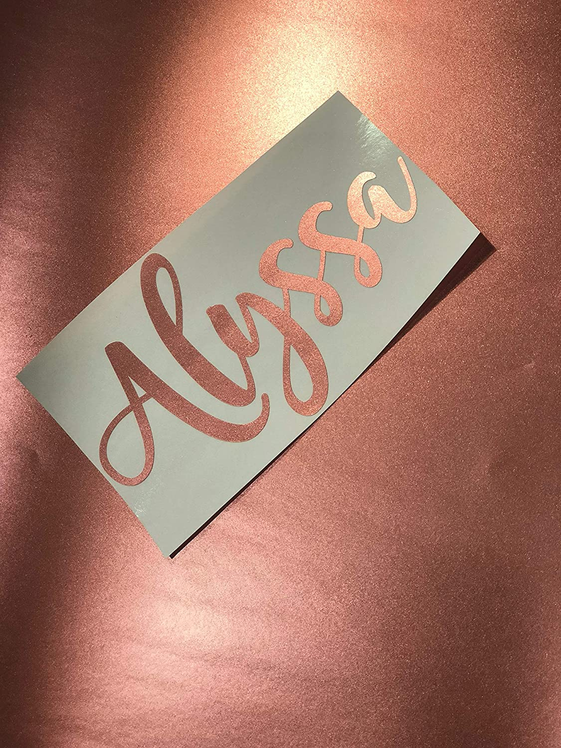 Amazon com celycasy rose gold satin metallic custom name monogram