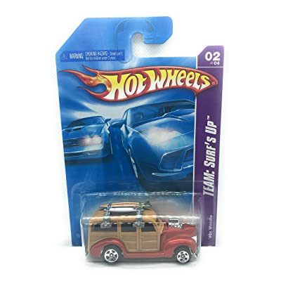 Hot Wheels 2008 118 Team: Surf's Up # 2 of 4 Reddish Copper '40s Woodie 1:64 Scale: Toys & Games