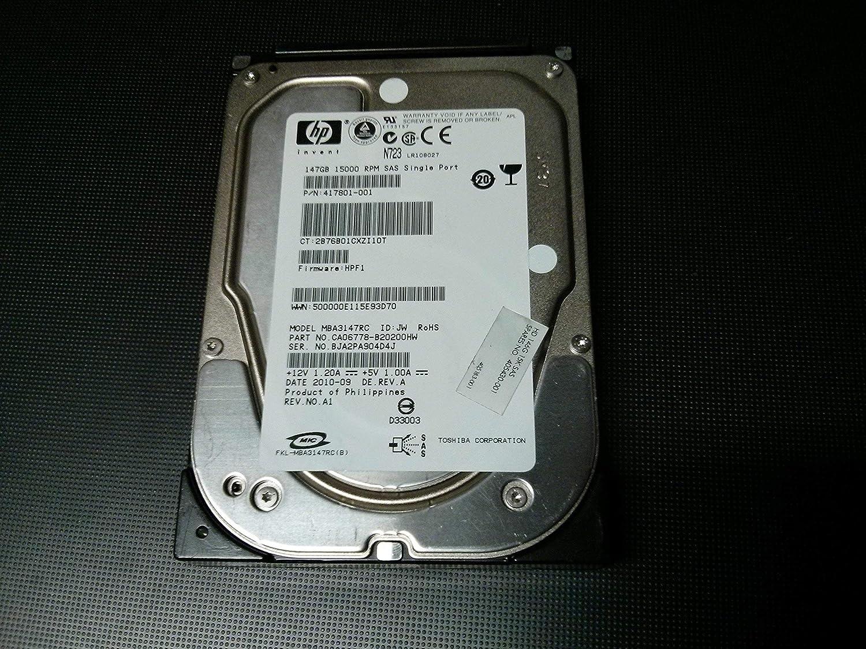HP Invent 146GB 15K SAS Hard Drive 417801-001 (Renewed)