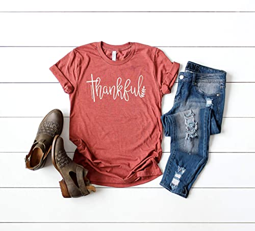 Thankful Women/'s Triblend Unisex Thanksgiving Fall Shirts