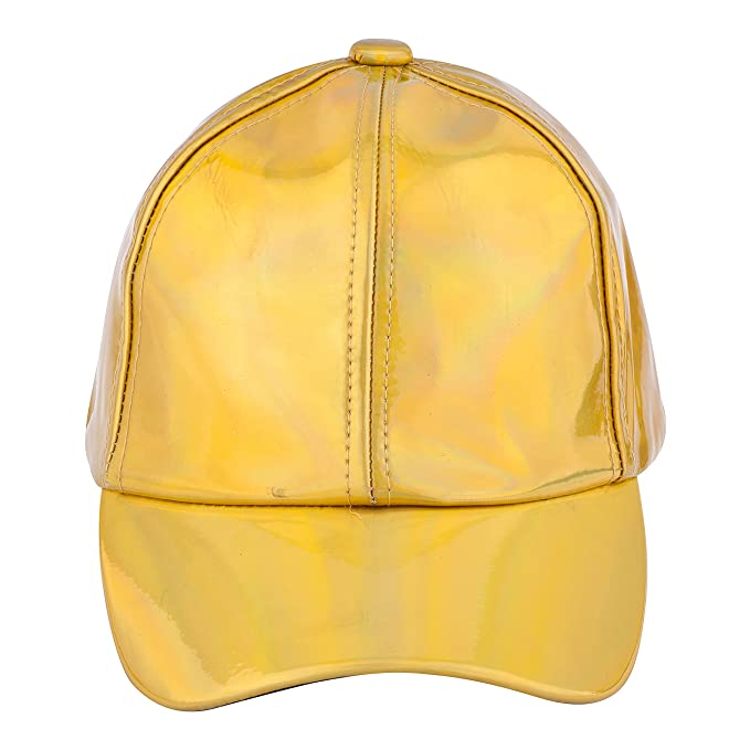 889e527e2d406a JOTW Unisex Holographic Baseball Caps with Adjustable Straps- Available in  3 Colors (Gold)