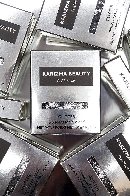 Brillo Grueso Biodegradable en Platino // Karizma Beauty Plata ...