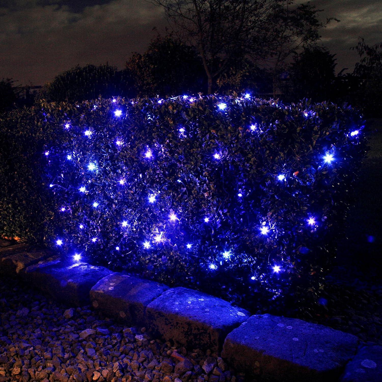 Outdoor Solar Net Lights 100 blue led solar powered garden net light 15m x 08m by 100 blue led solar powered garden net light 15m x 08m by lights4fun amazon garden outdoors workwithnaturefo